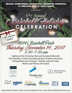 6th Annual Brickell Holiday Celebration @ 1814 Brickell Park   Miami   Florida   United States